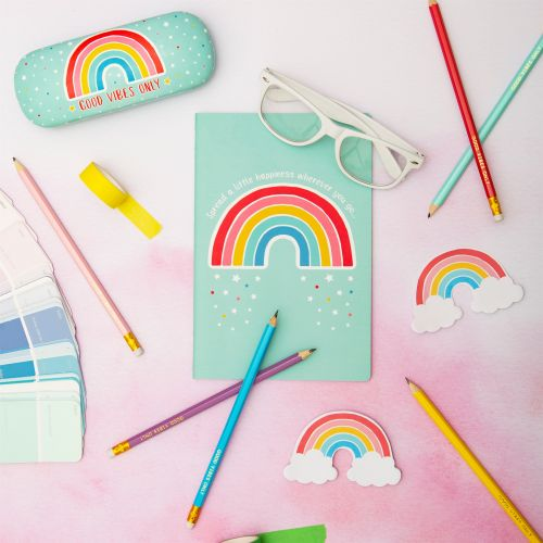 Sada tužek s gumou Rainbow - 6 ks