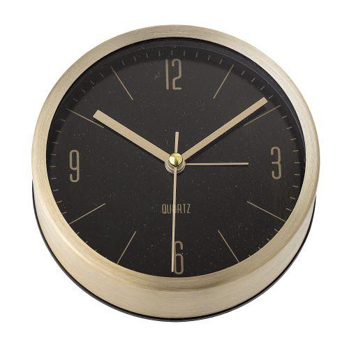 Stolní hodiny Gold&Black Aluminium