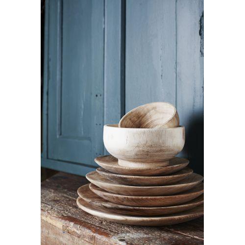 Dřevěný talíř Wood - set 3 ks