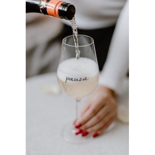 Sklenice na víno Pauza