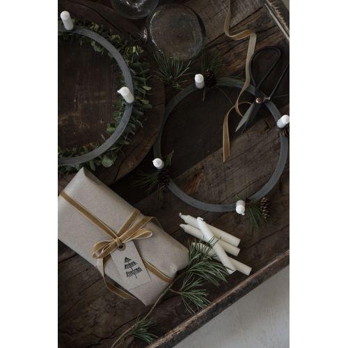 Sametová stuha na špulce Clay - 10m