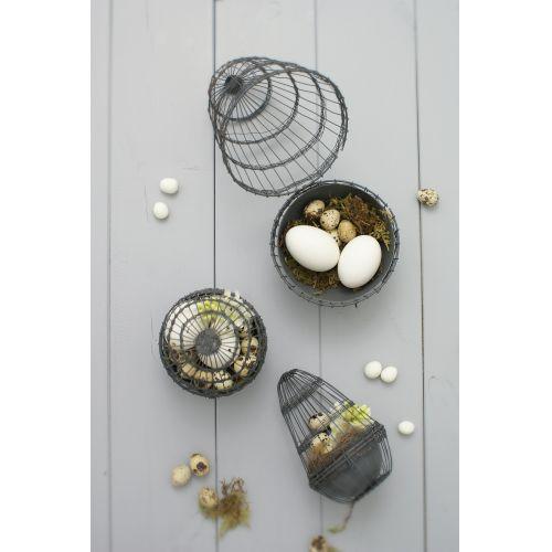 Drátěné vajíčko na dekorace Grey