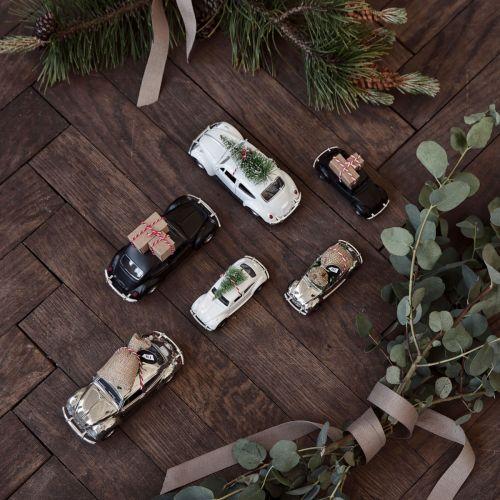 Vánoční autíčko Xmas Car Mini Chrome