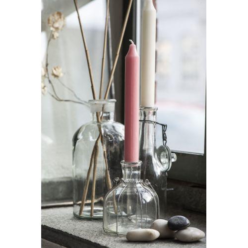 Vysoká svíčka Rustic Rosé 18cm - set 3ks