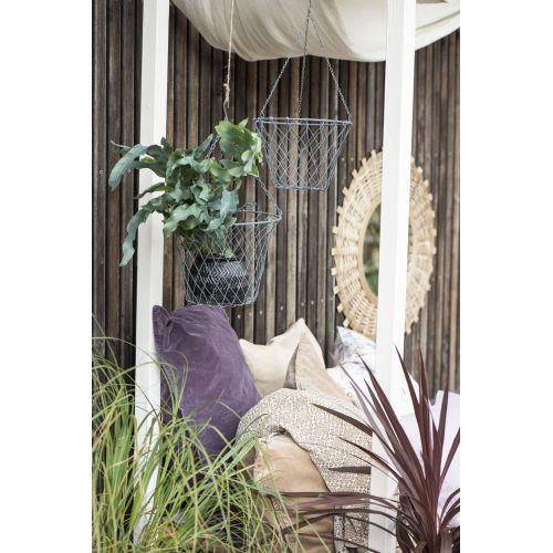 Závěsný kovový košík na květiny 24 cm