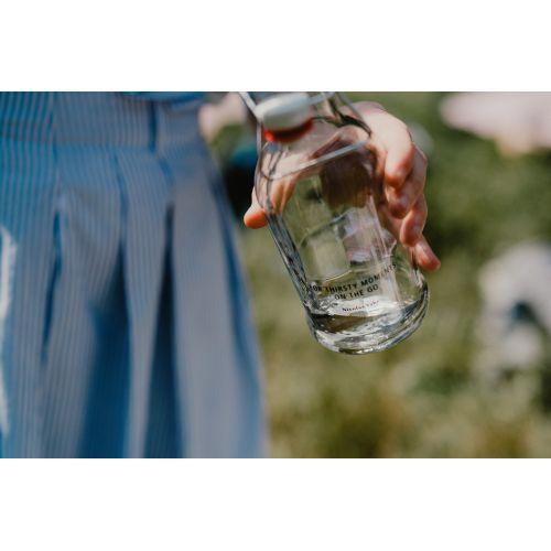 Skleněná lahev s klipem 480 ml - čirá