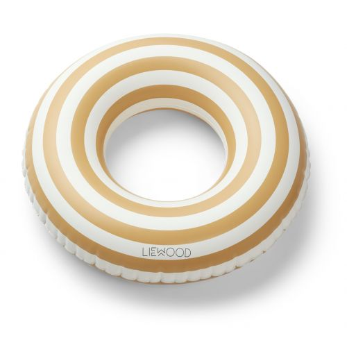 Nafukovací kruh Stripe Yellow - 45cm