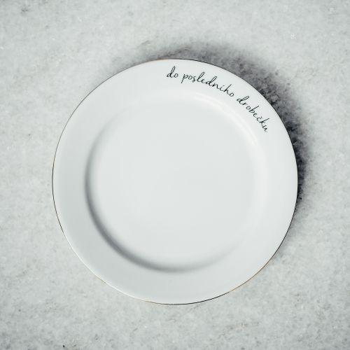 Dezertní talířek Do posledního drobečku 19 cm