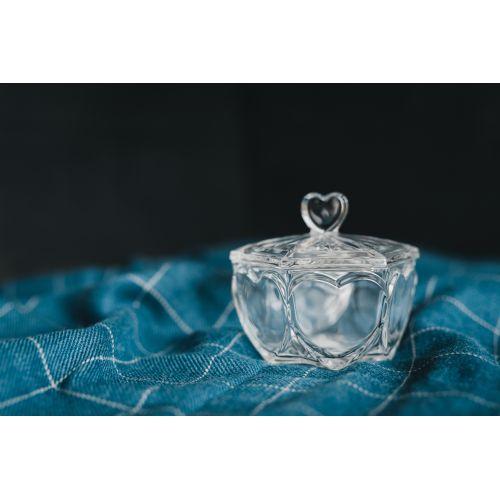 Křišťálová dózička Heart Crystal BOHEMIA
