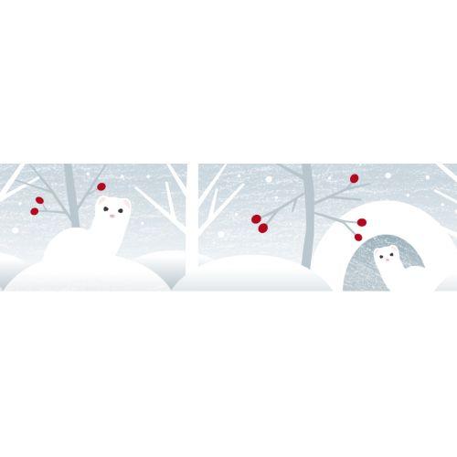 Japonská papírová páska Ermine in Snow