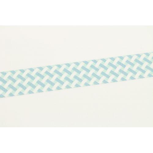 Japonská papírová páska Net Check Blue