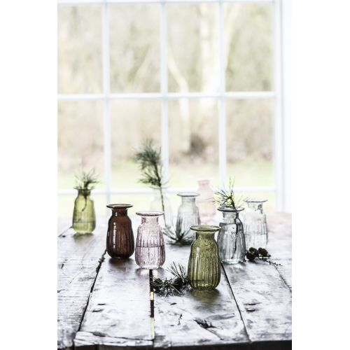 Váza Hyacint Pebbled Glass Smoke