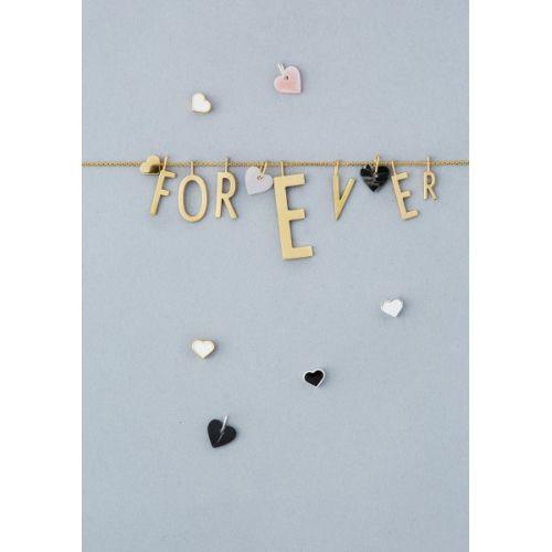Pozlacený přívěsek Design Letters Pink Heart