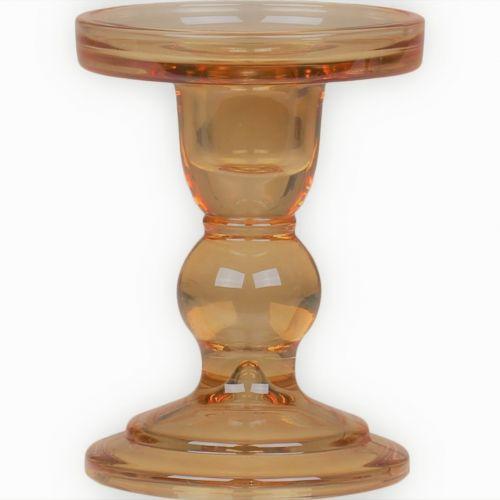 Skleněný svícen Candlestick Caramel 11,5 cm