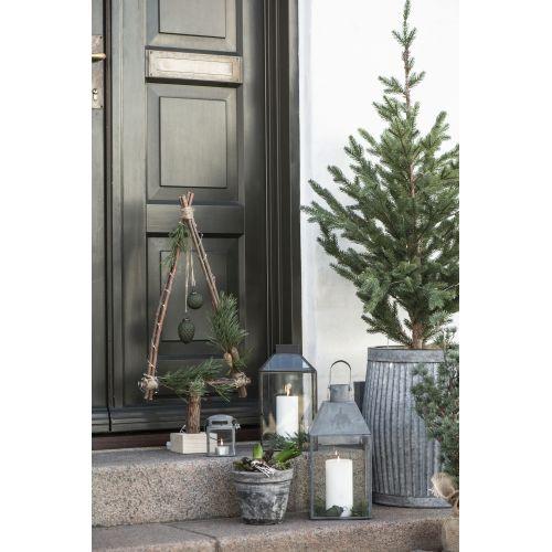 Kovová lucerna Zinc Mistletoe
