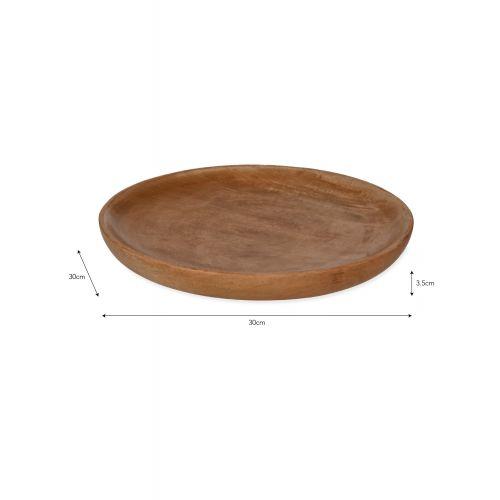 Talíř z mangového dřeva Midford 30cm