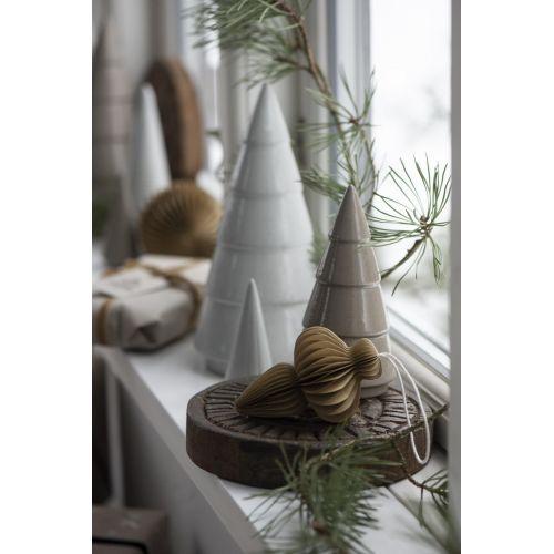 Papírová vánoční ozdoba Folded Beige
