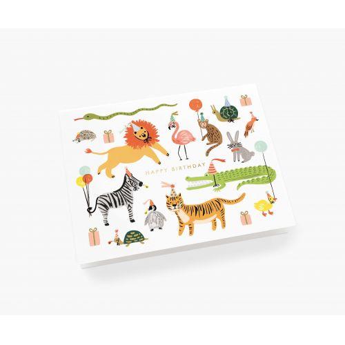 Přání s obálkou Party Animals