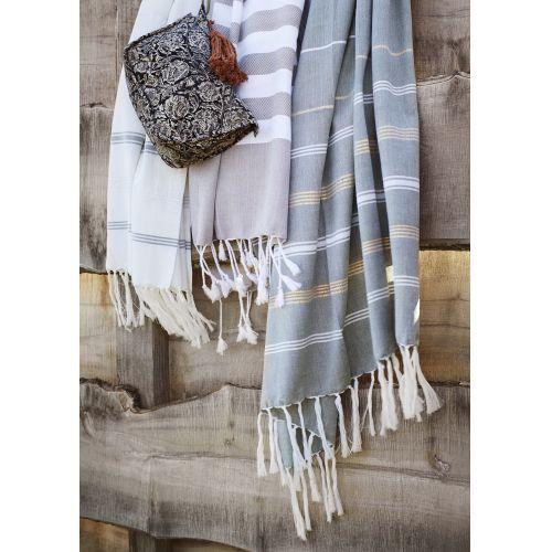 Bavlněná osuška Sand Striped 100×180 cm