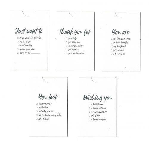 Kartičky s obálkou Occasion - set 5 ks