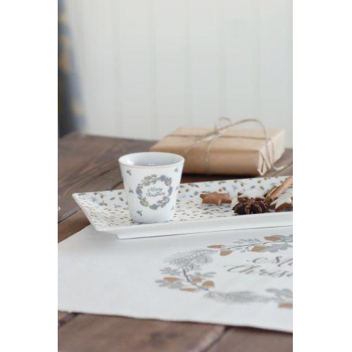 Porcelánová hrneček na espresso Merry Christmas