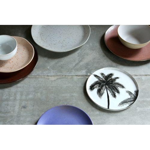 Porcelánový dezertní talíř Purple Side