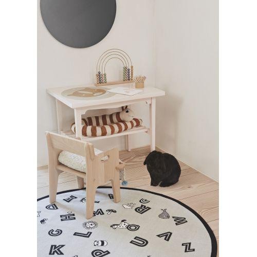Dětský koberec The Alphabet Rug grey