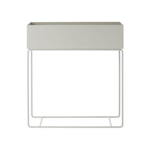 Kovový truhlík na stojanu Light Grey