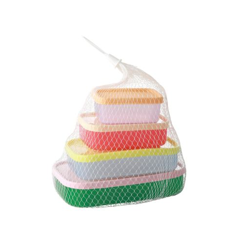 Plastové krabičky Colors - set 4 ks