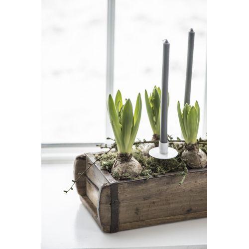 Úzká svíčka Dark grey