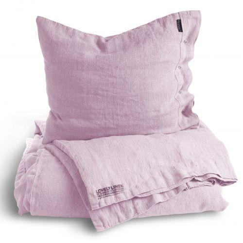 Lněné povlečení na peřinu 145x210 Soft Pink