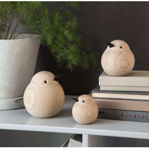 Dřevěný ptáček Mama Sparrow Natural Oak