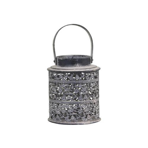 Kovová lucerna Antique Zinc 14cm