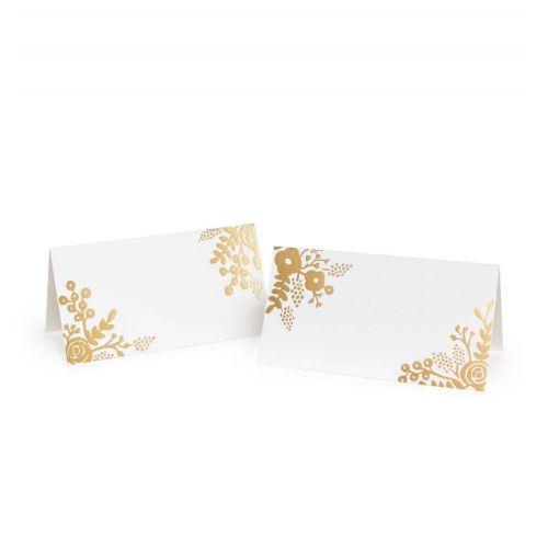 Papírové jmenovky Gold Lace - 8 ks