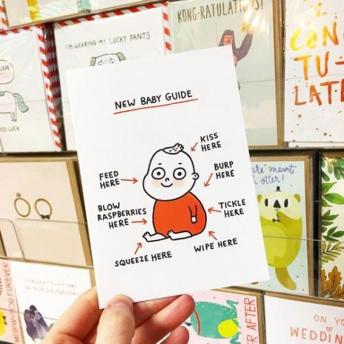 Přání s obálkou Baby Guide