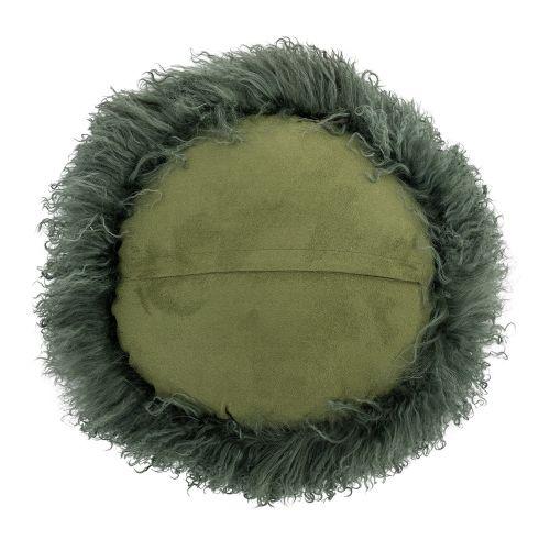 Kožešinový polštář Mongolian Green Circle