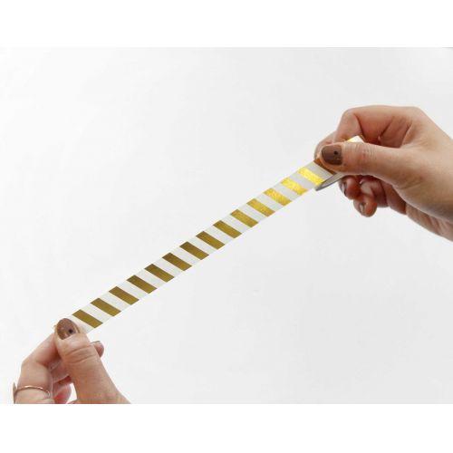 Papírová lepicí páska Zlaté proužky