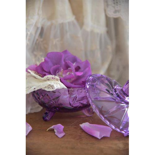 Skleněná dóza s víkem Purple