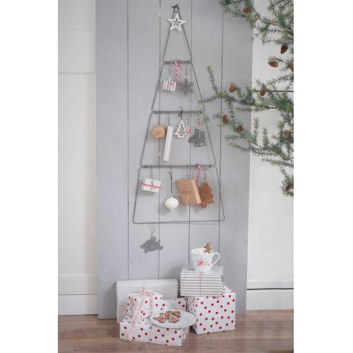 Porcelánová vánoční ozdoba White Tree