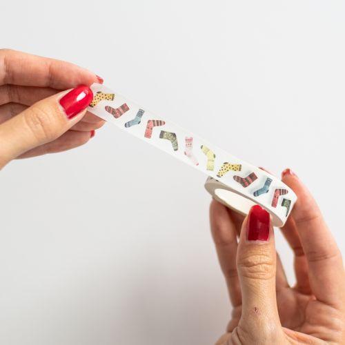 Vánoční papírová lepicí páska Shaggy Socks