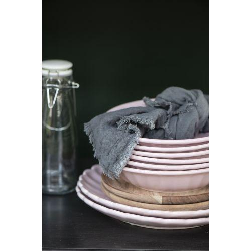 Bavlněný ubrousek Double Weaving Dark Grey