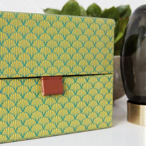 Úložný čtvercový box Fan Green