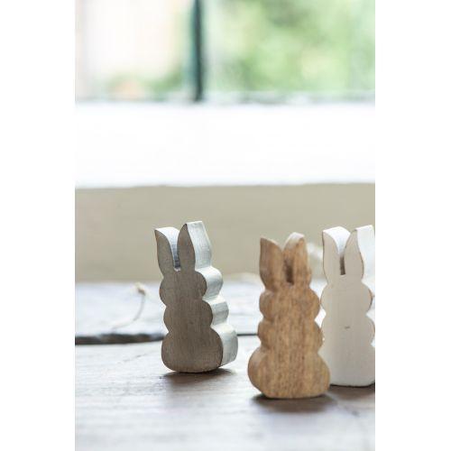 Dřevěná figurka Rabbit Grey