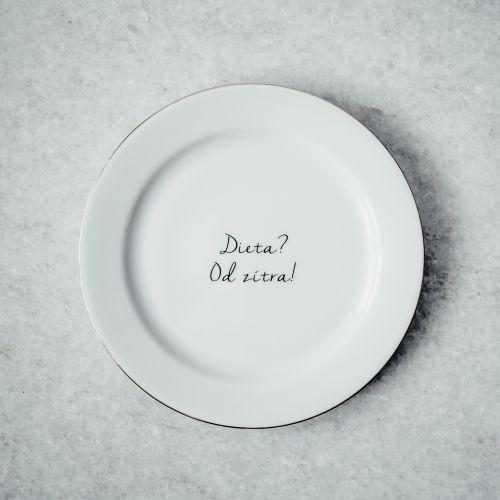 Dezertní talířek Dieta? Od zítra! 19 cm