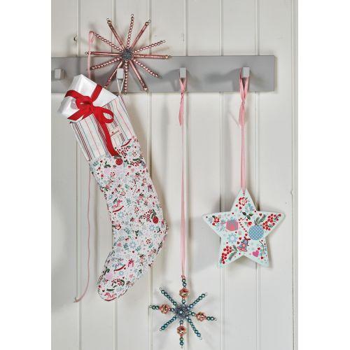 Skleněná vánoční ozdoba Snowflake Pale Pink - velká