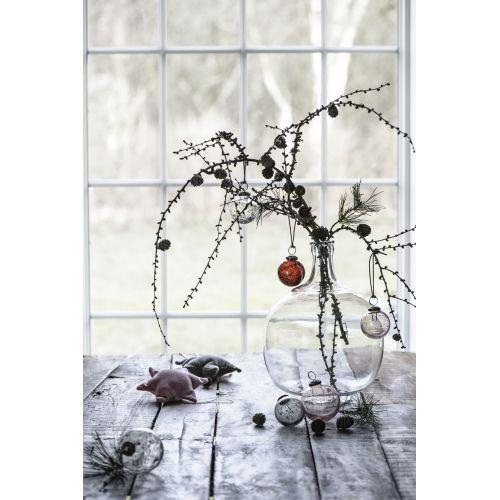 Vánoční baňka Pebbled Glass Bordeaux