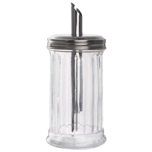 Skleněná cukřenka s dávkovačem Glass