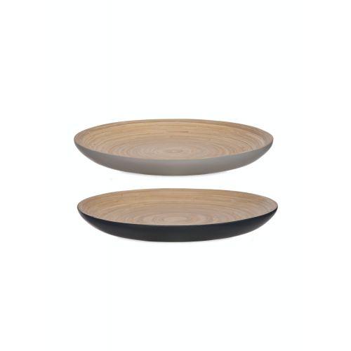Bambusový talíř Ink and Flint - set 2 ks