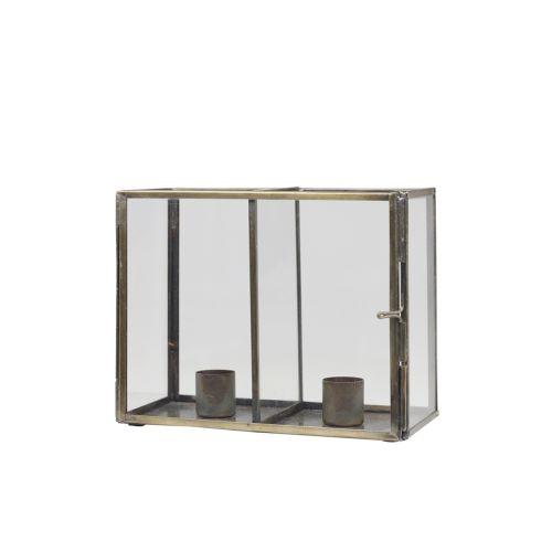 Svícen pro dvě svíčky Glass Box