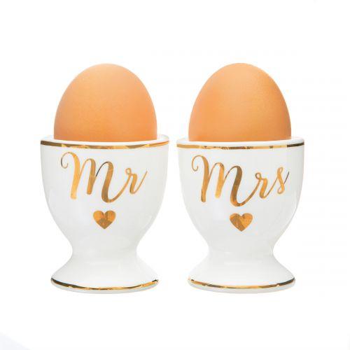 Porcelánové stojánky na vejce Mr & Mrs